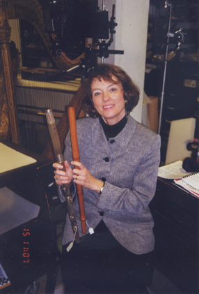Jan Boland with 2 Met flutes by Laurent and Firth Hall & Pond